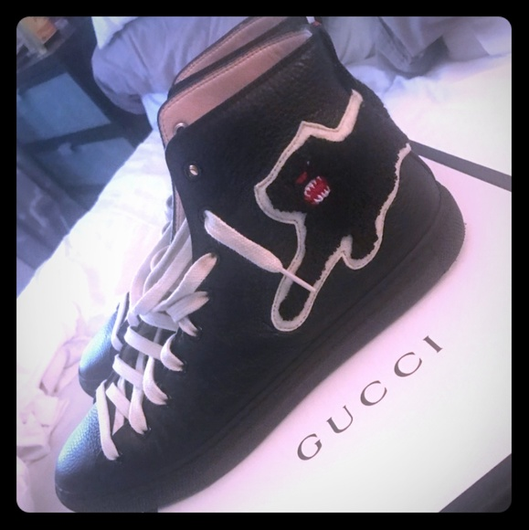 036e43656 Gucci Shoes | Leather High Top | Poshmark